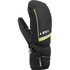 Rukavice Leki Max Junior Mitt black-lime - 649807802 - 19/20