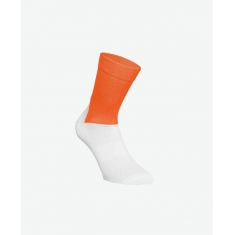 POC Essential Road Sock - Zink Orange/Hydrogen White - 2020