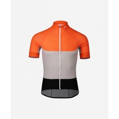 POC Essential Road Light Jersey - Granite Grey/Zink Orange - 2020