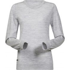 Bergans of Norway Fivel Wool Lady Long Sleeve Alu Mel