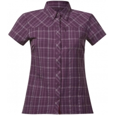 Bergans of Norway Langli Lady Shirt SS Plum Check