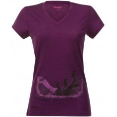 Bergans of Norway Tur Wool Ladytee Plum